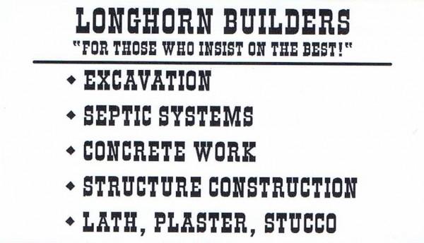 Longhorn Builders-front-Business card-backside