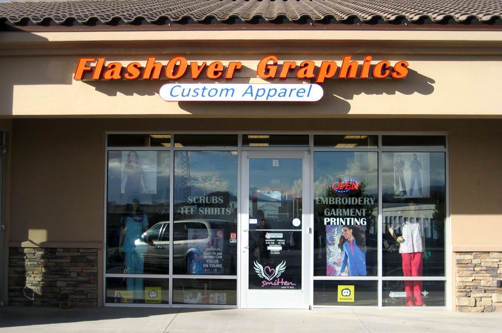 Kingman-Merchants-Mall-Businesses-FlashOver-Graphics-Medical-Uniforms-Medical-Scrubs-Custom-Embroidery
