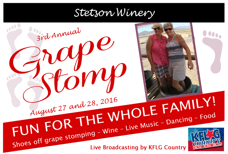 Stetson Winery's Grape Stomp